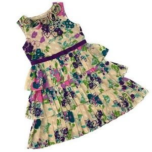 Hartstrings Girls 7 Tiered Ruffle Floral Dress